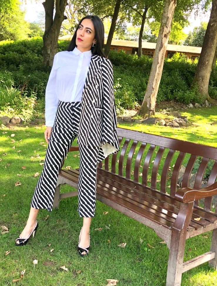 Topshop Striped Suit - Rupika Chopra