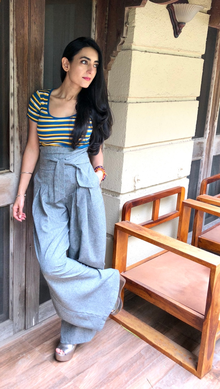 The High Waisted Wide Legged Pants - Rupika Chopra